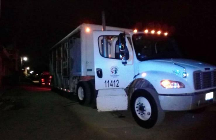 Policía Estatal recupera en Mazatecochco un camión robado