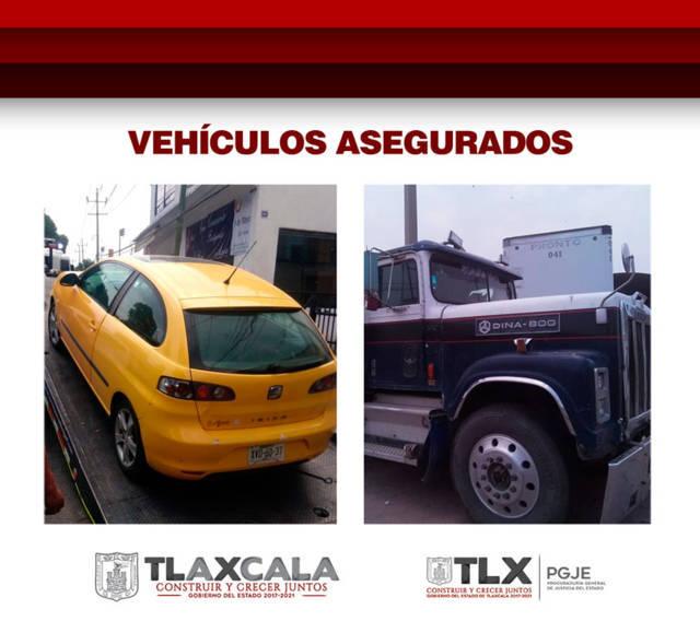 Asegura PGJE dos vehículos por presentar irregularidades