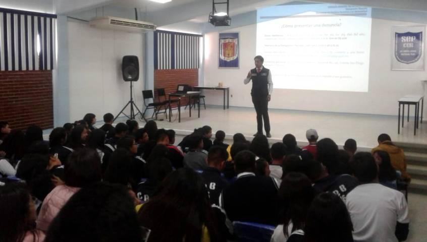 FGR imparte pláticas de prevención del delito y farmacodependencia en Xaltocan