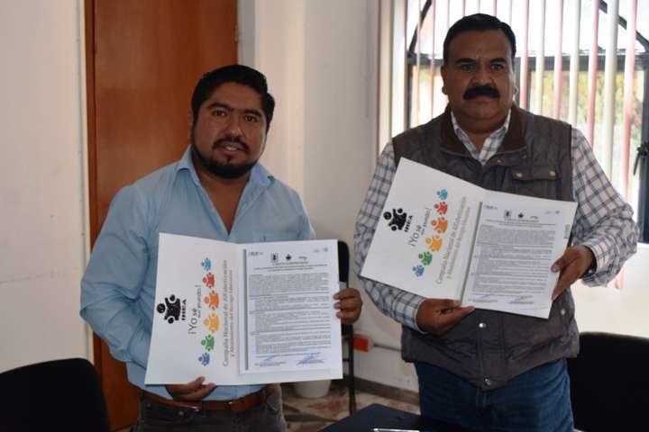 Firma Ayuntamiento de Panotla e ITEA convenio de colaboración