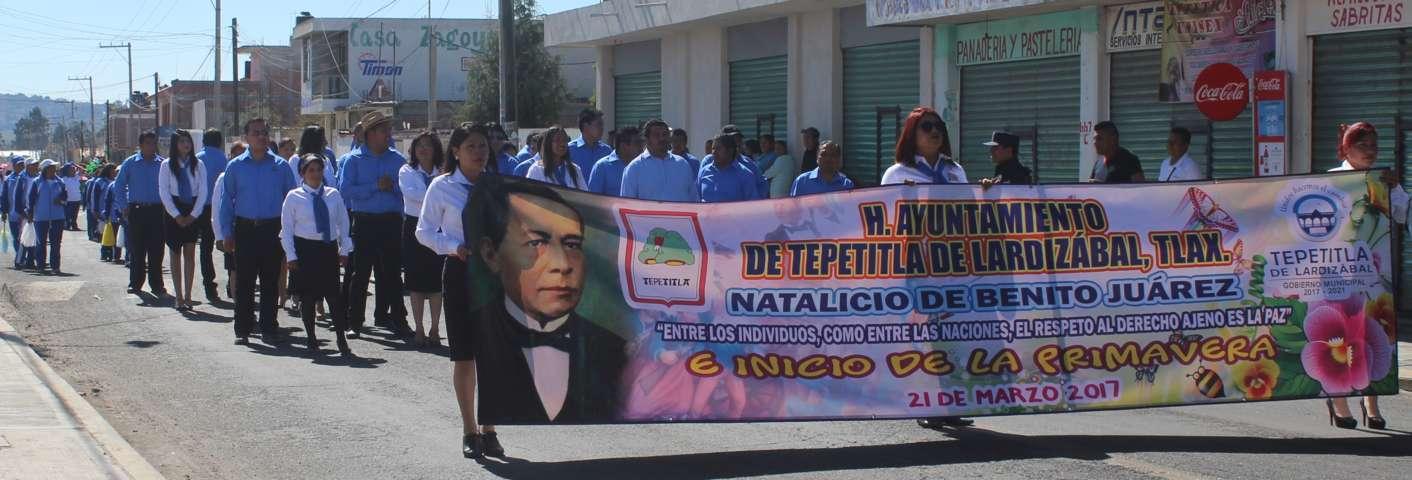 Conmemoró Ayuntamiento de Lardizábal el Natalicio de Benito Juárez
