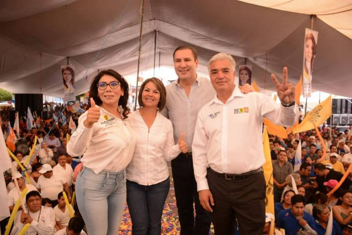 Con Alejandra, Minerva y Gelacio; Tlaxcala logrará su mejor momento en la historia: RMV
