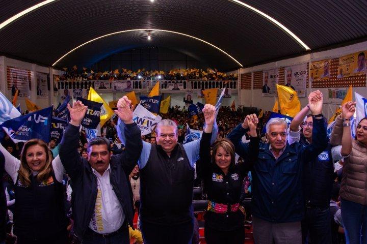 Muestran respaldo a candidatos del Frente en distrito federal 3