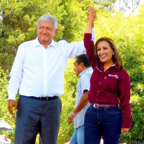 Invita Lorena a mitin de AMLO en el zócalo de la ciudad de Tlaxcala