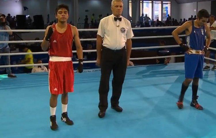 Avanza Miguel Ángel Capilla a semifinales del boxeo en JCC de Barranquilla