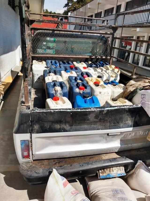 La CES asegura a persona que transportaba combustible ilegal en Natívitas