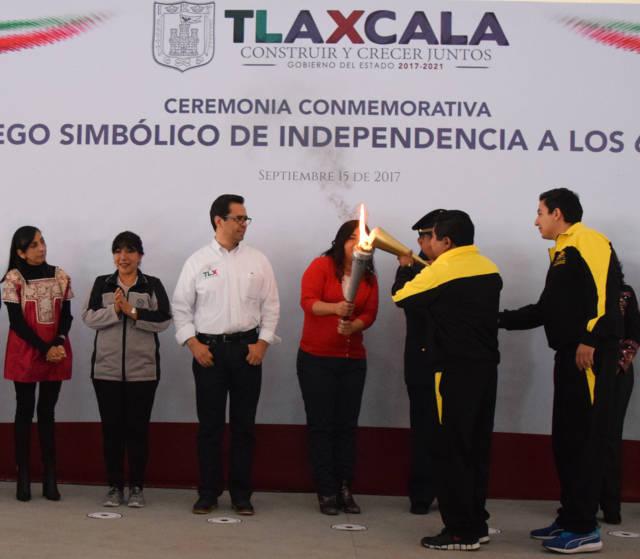En Panotla dan inicio los festejos de la celebración del CVII aniversario de Independencia