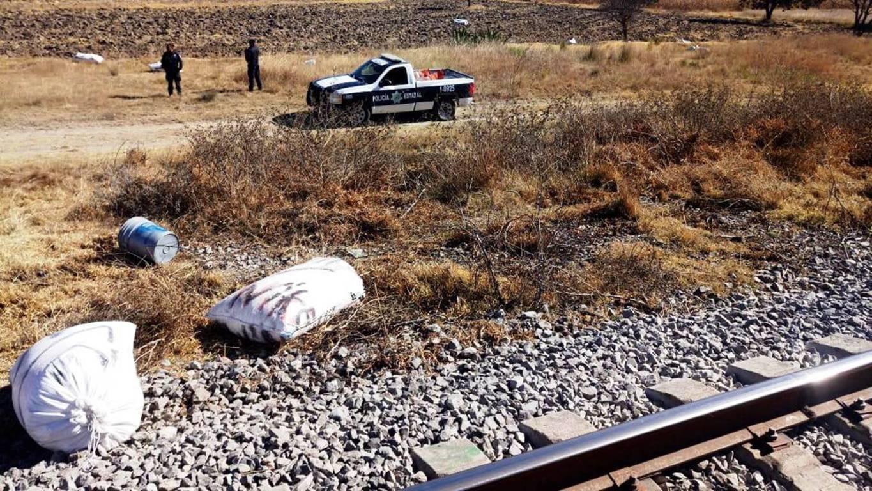 La CES implementa operativo por intento de robo a tren en Apizaco