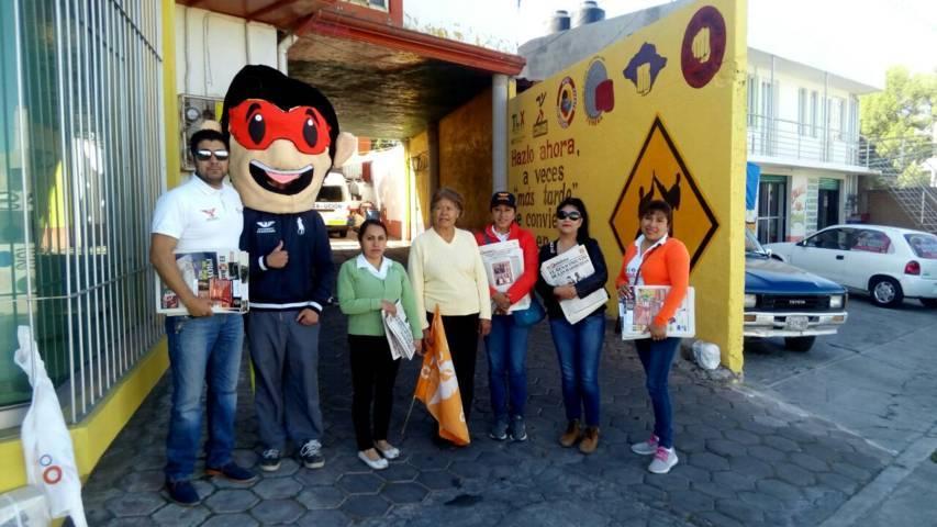 Las Brigadas Ciudadanas toman las calles en Ocotlán, Tlaxcala: Rubén Ríos