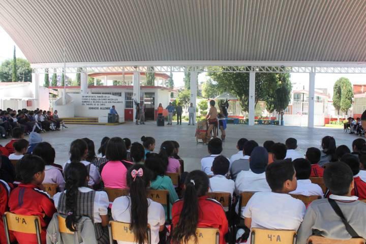 """Realiza alcaldía capitalina """"Jornada de Arte y Cultura"""" en primaria de Ixtulco"""