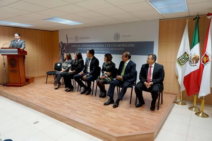 Firma de convenio del TSJE fortalece cinco líneas de acción