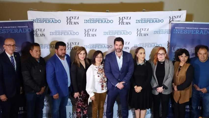 Eduardo Verástegui presenta Inesperado, en Tlaxcala