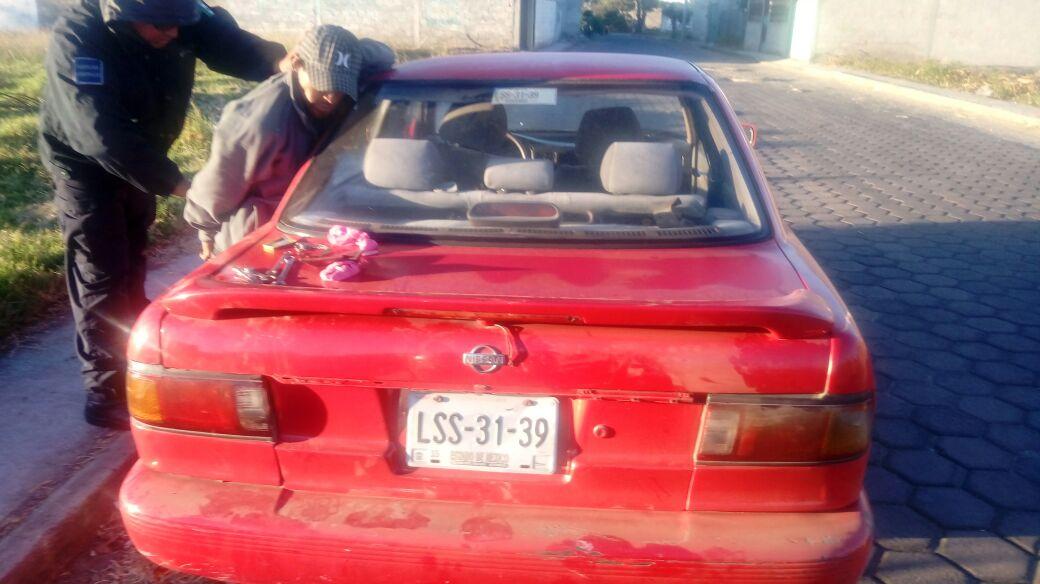 Recuperan elementos de seguridad municipal vehículo robado