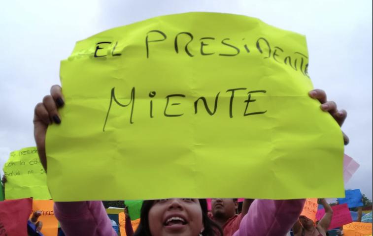 Exigen antorchistas que los respete Andres Manuel López Obrador