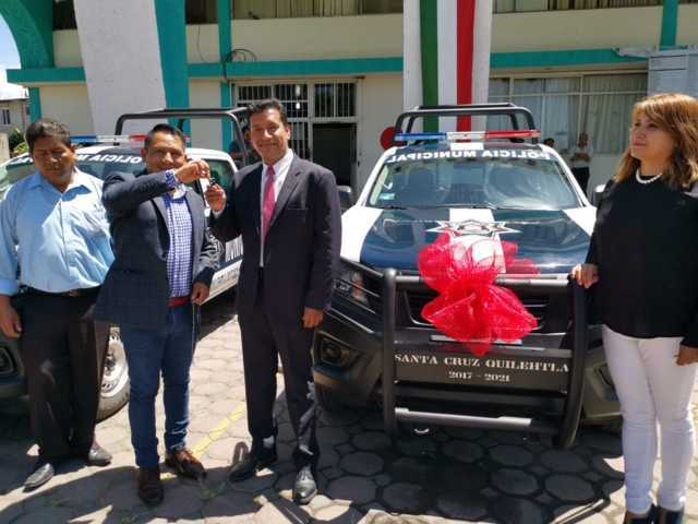 Alcalde refuerza la seguridad con dos nuevas patrullas equipadas