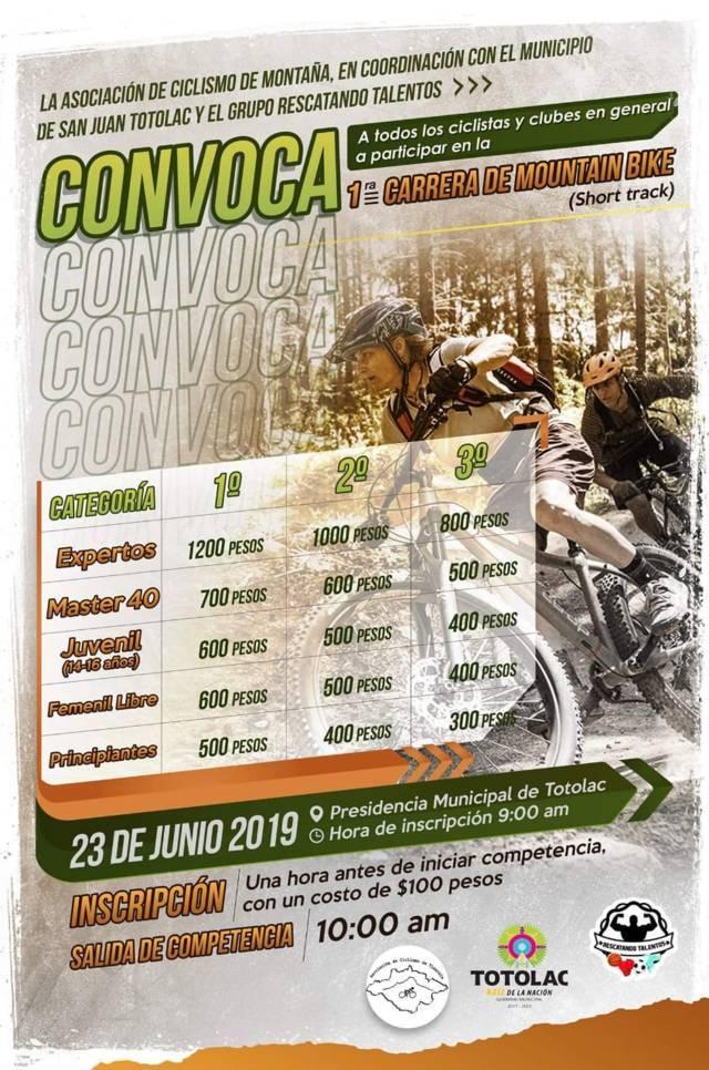 Llega este 23 de junio la 1er carrera de Mountain Bike y torneo de Gotcha: alcalde
