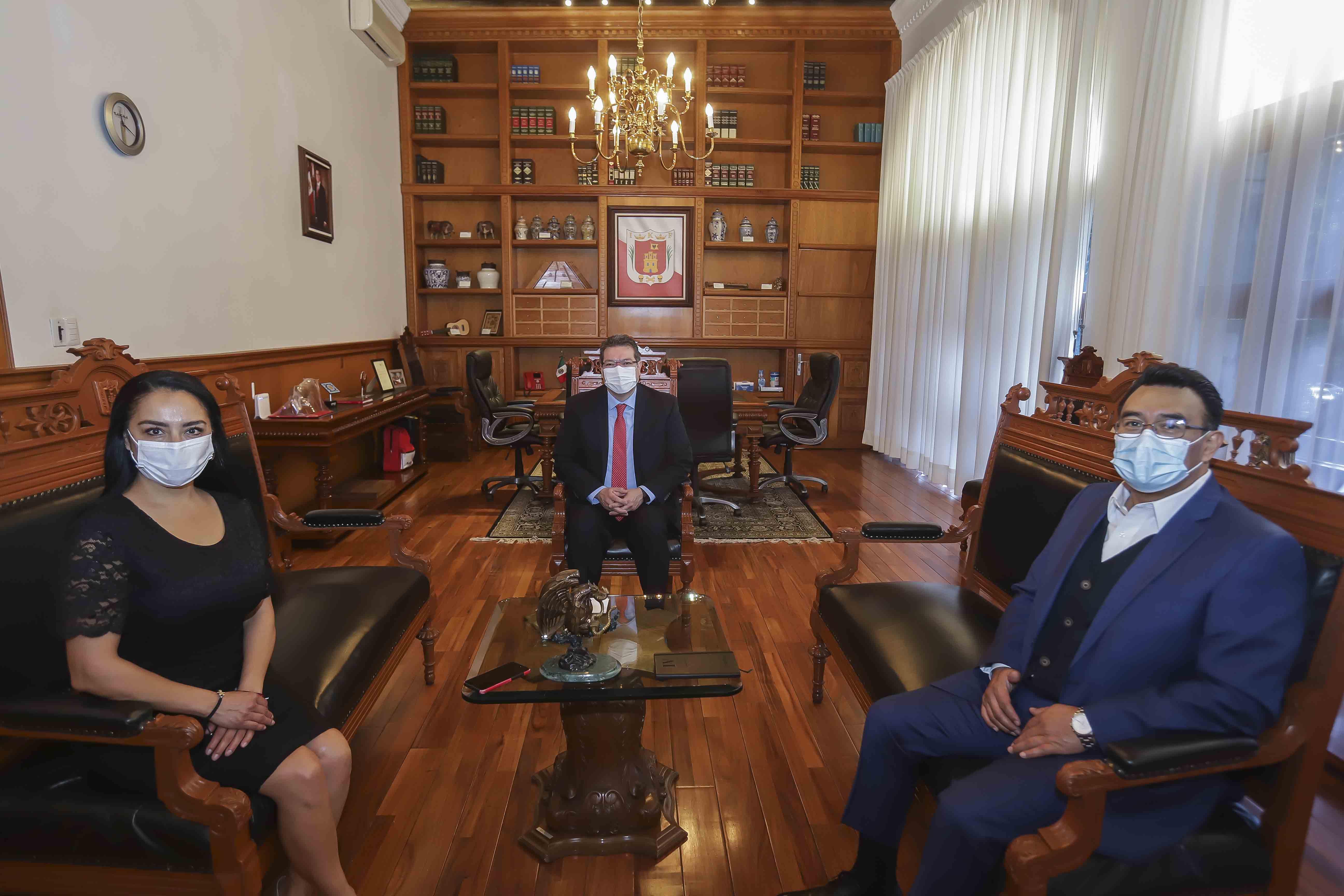 Marco Mena y Mayra Vázquez ratifican trabajo conjunto de poderes