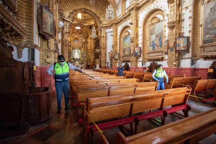 Inicia Protección Civil del Estado sanitización de templos e iglesias ante Covid-19