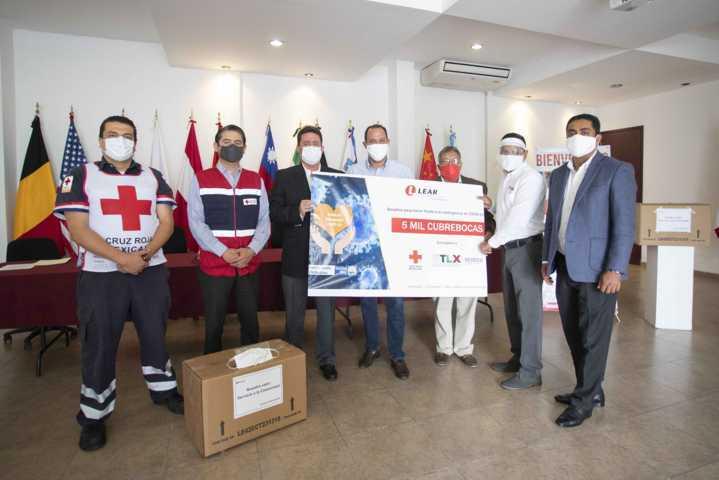 Recibe Sedeco donación de 5 mil cubrebocas por parte de Lear Corporation
