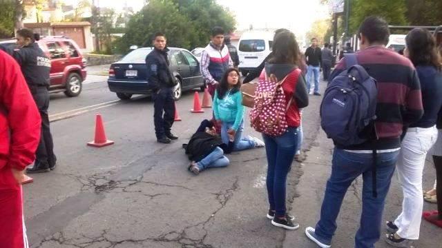 Estudiante fue atropellada frente a rectoría de la UAT