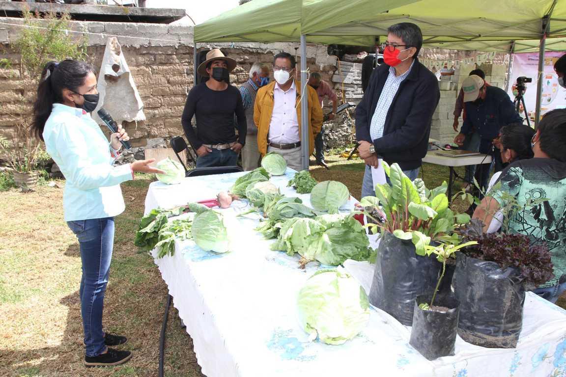 Impulsa Sefoa la producción y alimentación saludable en el medio rural