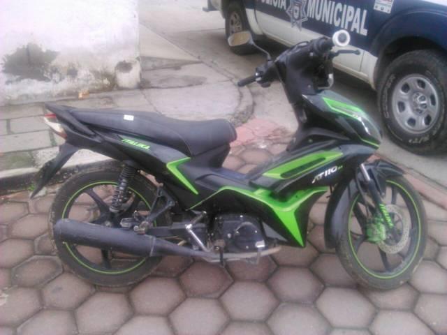 Recuperan moto robada en Chiautempan