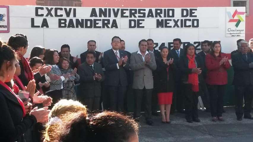 Conmemora Ayto. de Chiautempan CXCVI Aniversario de la Bandera de México