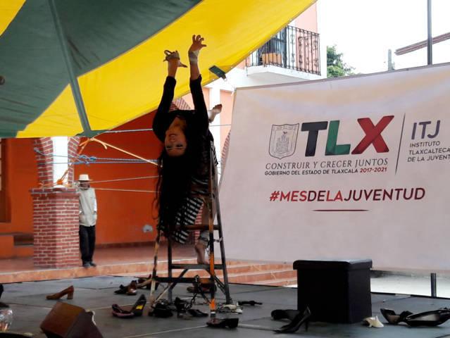 Presentan obra de teatro en Texóloc en el marco del mes de la Juventud