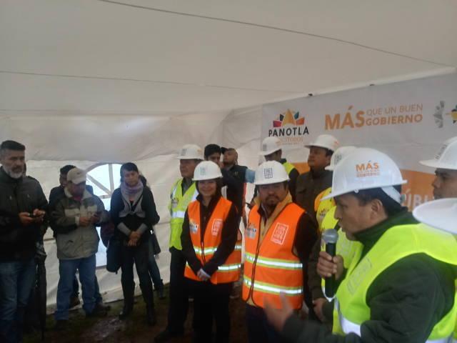 Eymard Grande inicia con 2 millones de pesos las obras en Panotla