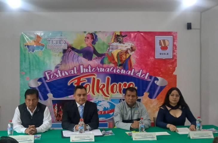 Presentan Festival Internacional del Folklore en Tetla