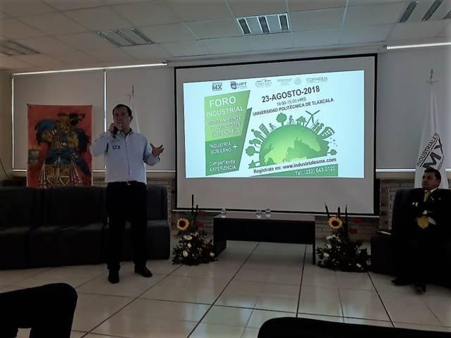 Uptx sede del Foro Industrial De Medio Ambiente Y Producción Sustentable Tlaxcala 2018