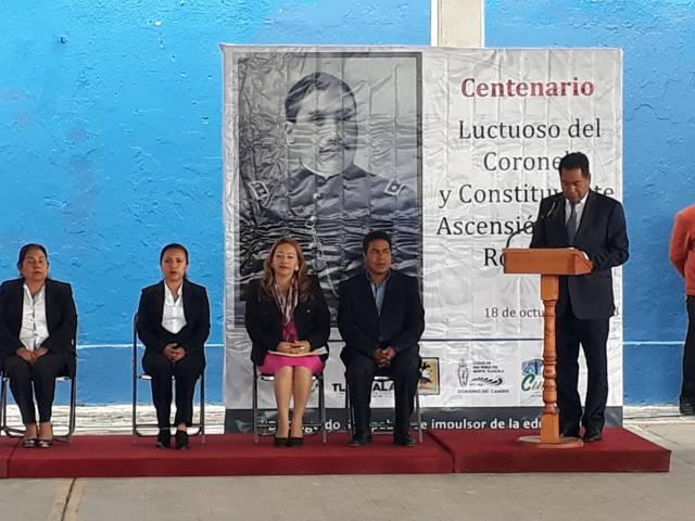 Ayuntamiento de SPM conmemora el Centenario Luctuoso Del Coronel Ascensión Tepal Romero