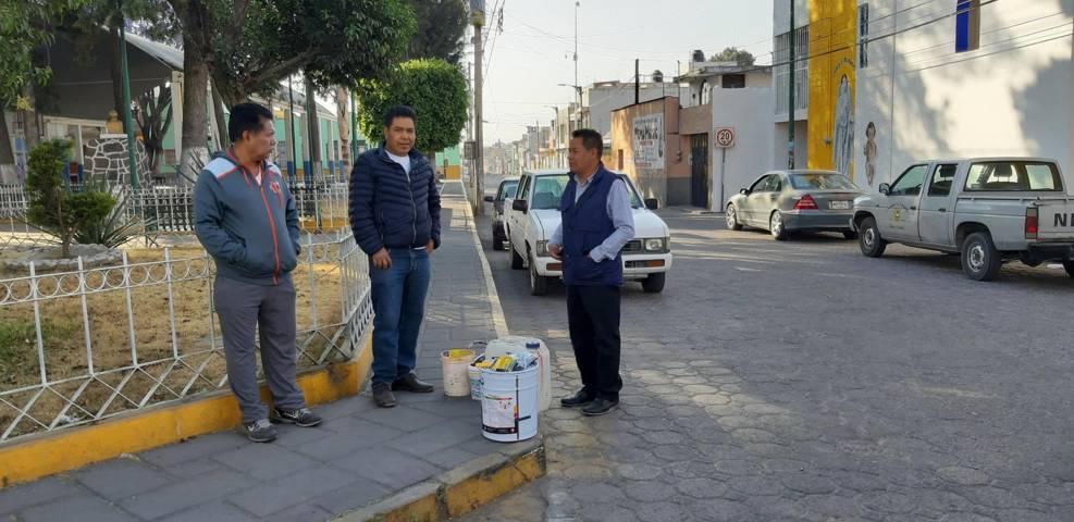 Realizan mantenimiento a diferentes calles en San Pablo del Monte