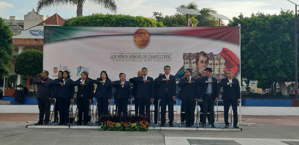 Conmemoran en SPM la gesta heroica de Los Niños Héroes de Chapultepec