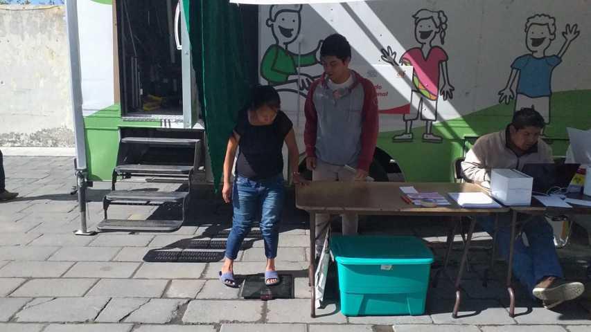 El DIF municipal de SPM acerca la unidad móvil de la salud a Buensuceso