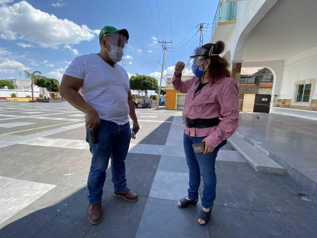 Entregan kits de protección sanitaria a Policías de Xicohtzinco