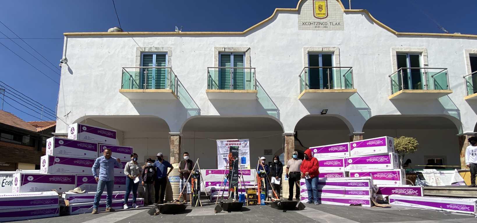 Continúa en Xicohtzinco entrega de productos subsidiados