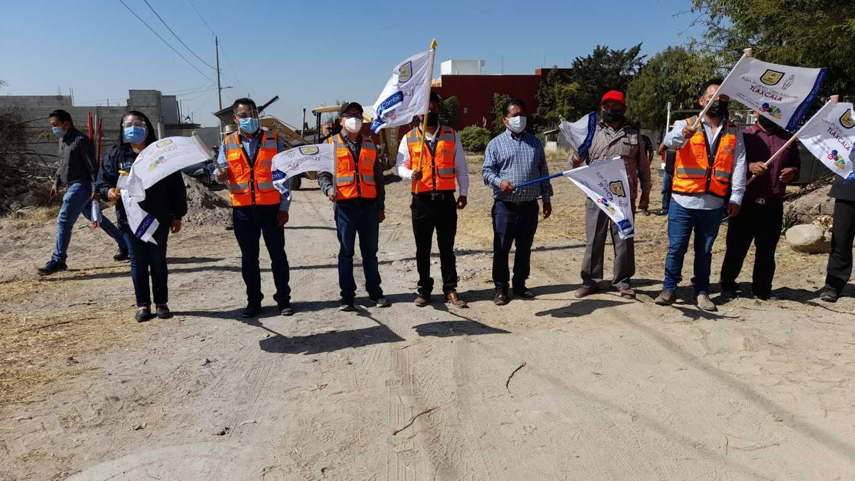 Inicia obra en la calle 15 de Mayo de San Nicolás – San Pablo del Monte