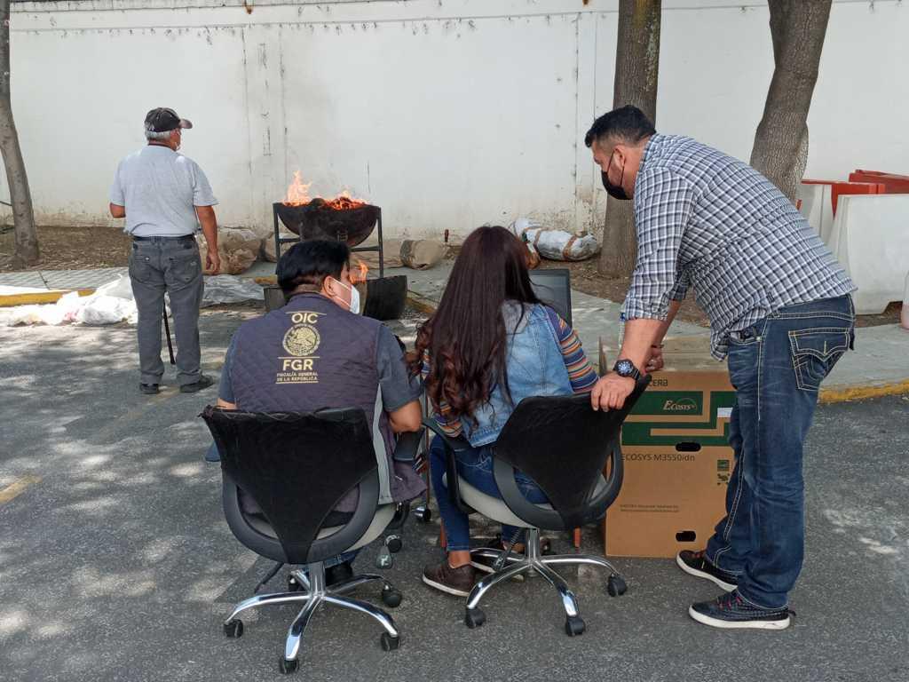 Inicineran más de 85 kilos de narcóticos en Tlaxcala