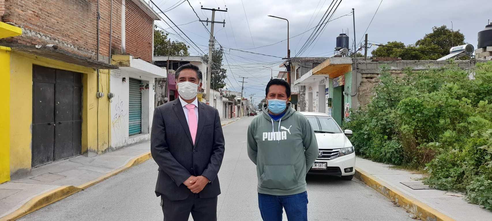 Quedó lista la obra de la calle Emiliano Carranza de Xaltipa -  Papalotla