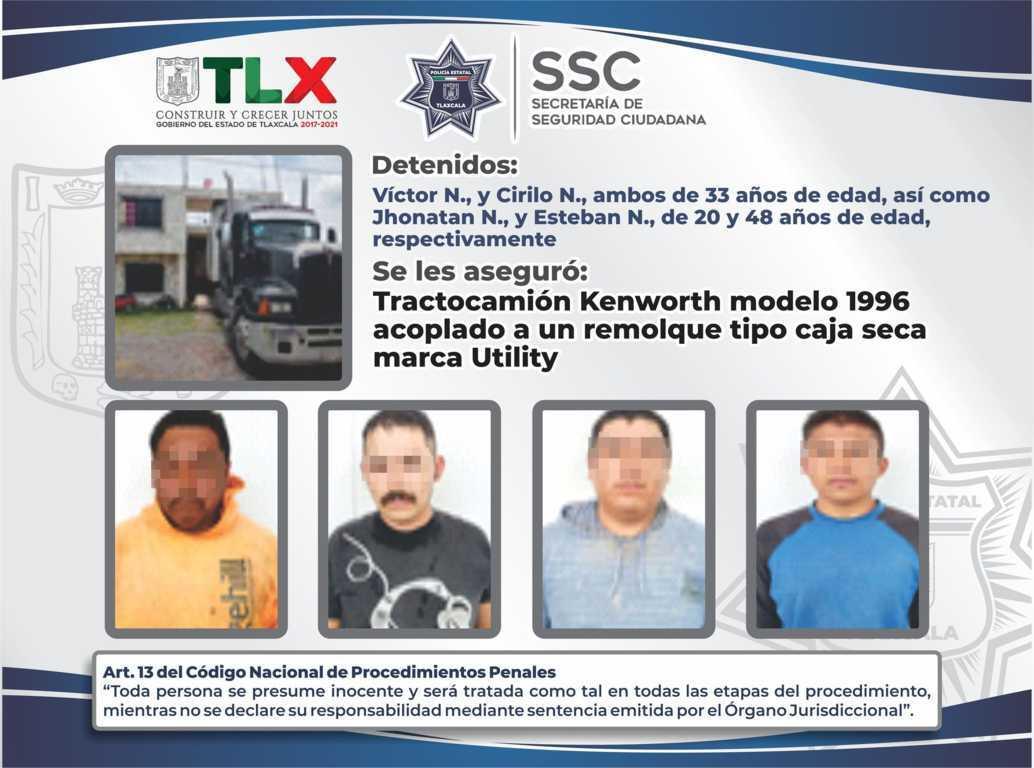 La SSC recupera en Teolocholco un tractocamión robado