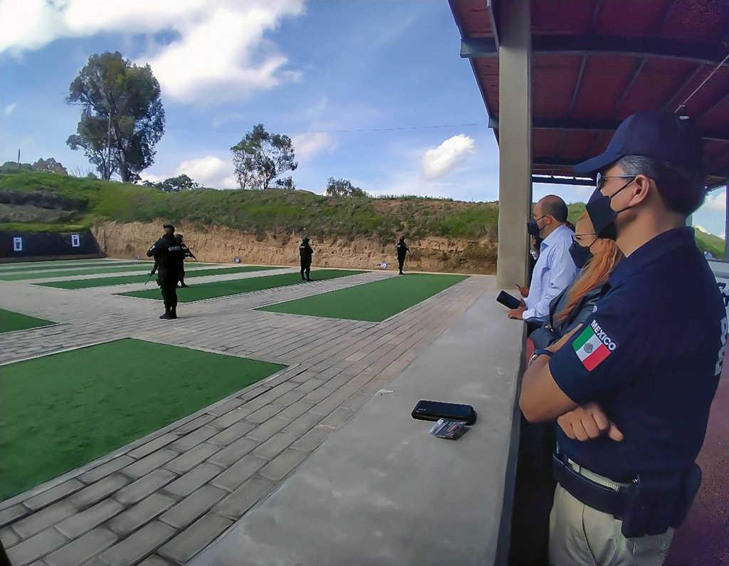 La SSC instala el estand de tiro en Terrenate