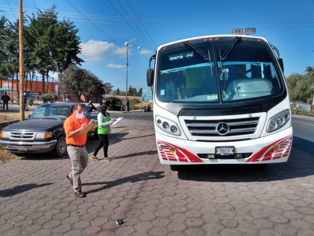 Mantiene SECTE supervisión permanente de medidas sanitarias en unidades de transporte público