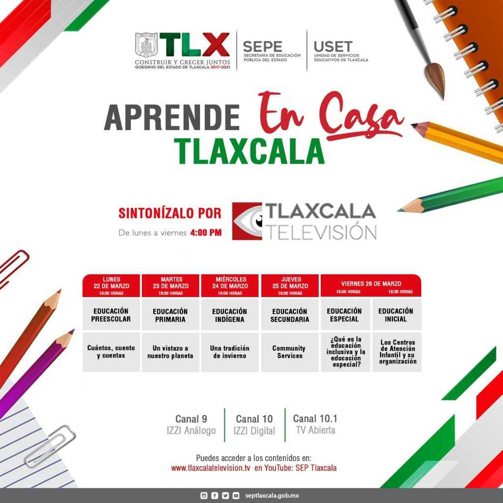 """Presenta SEPE barra temática de """"Aprende En Casa Tlaxcala"""""""