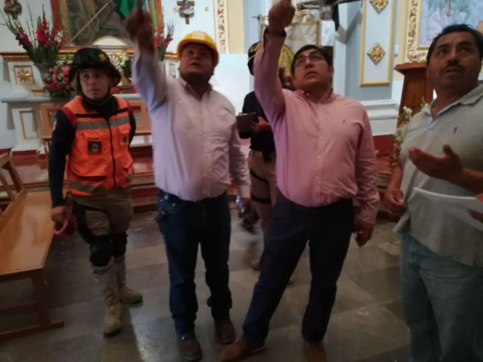 Envía Alcalde de Totolac reporte de daños a autoridades Estatales y Federales