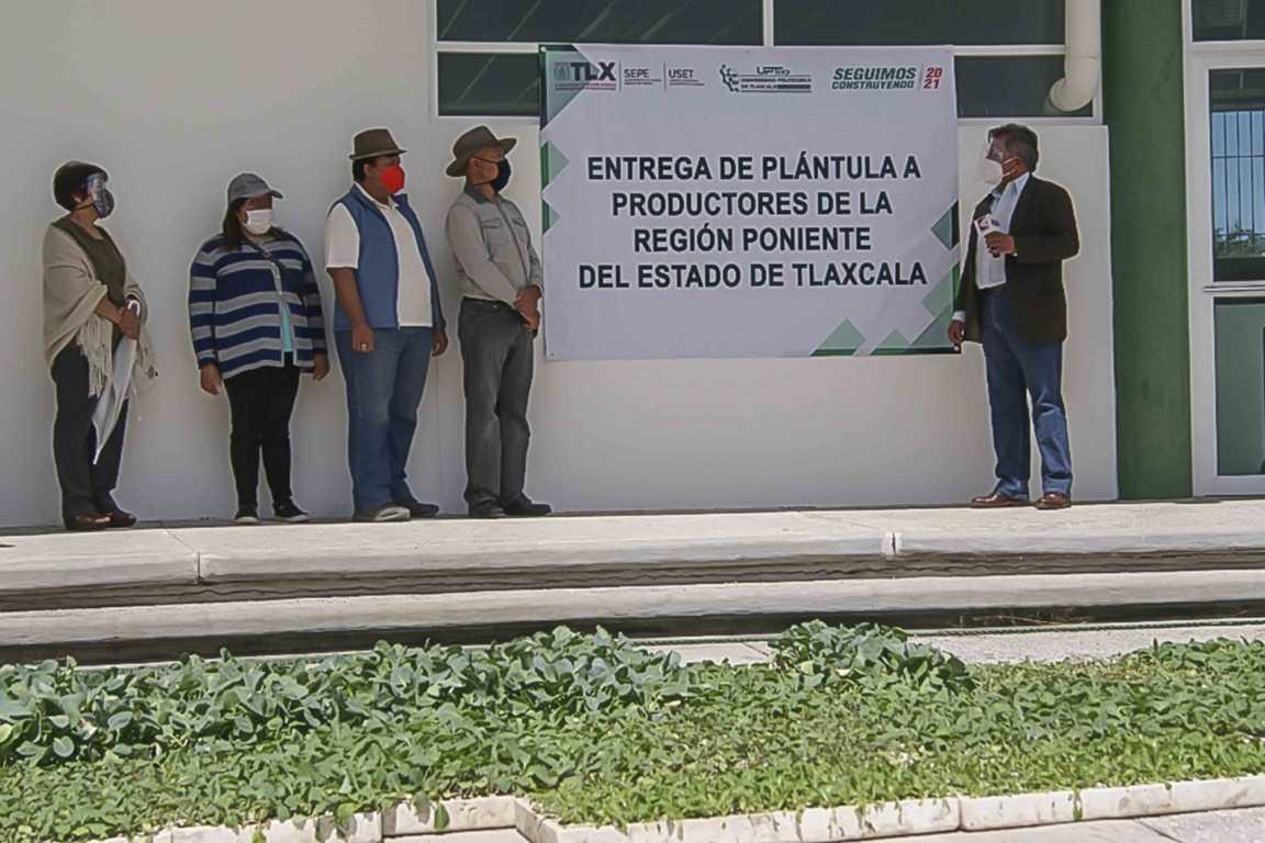 Entrega UPTREP más de 13 mil plántulas de hortaliza a ejido de Tecopilco