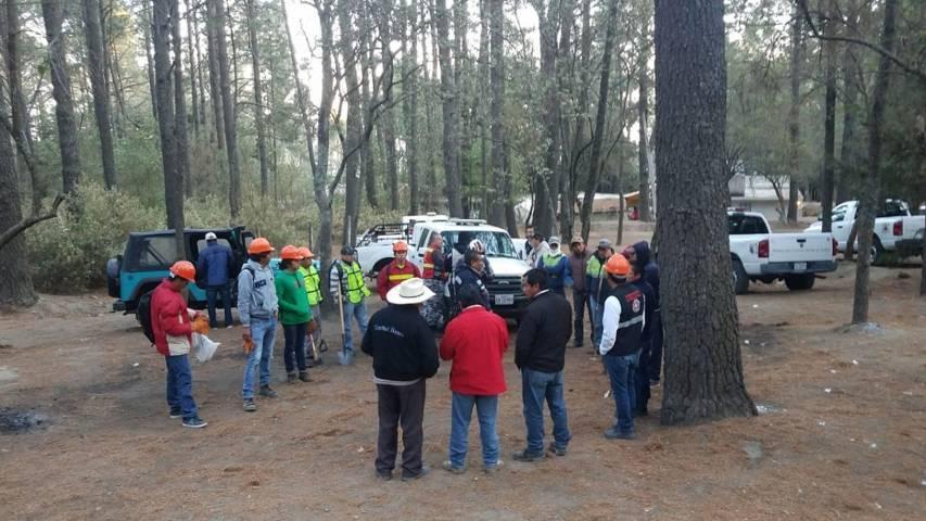 Incorporan más brigadas para combatir incendio en La Malinche