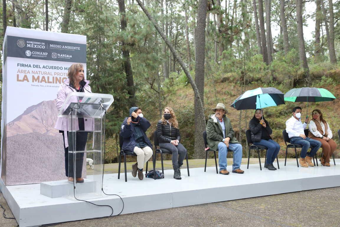 Se comprometen gobierno del estado Semarnat y Conanp a proteger La Malinche