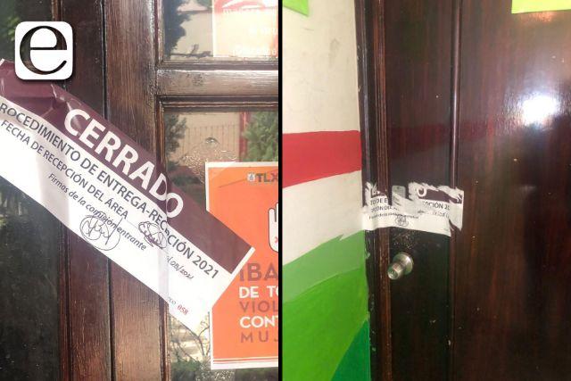 Funcionario saliente de Héctor Domínguez viola sellos de oficinas ya entregadas al OFS