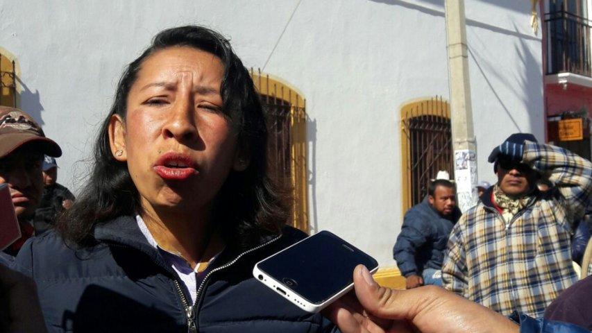 Síndica de Ixtenco, no quiere denunciar a su grupo de alborotadores